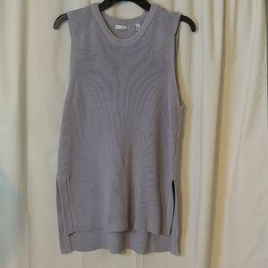 Halston Heritage Beautifyl Gray Sweater Tunic (L)